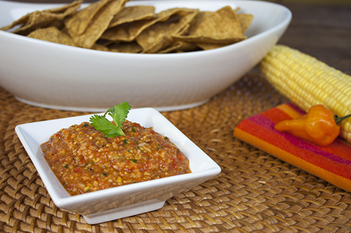 Check out the Recipe – Roasted Corn Habanero Salsa