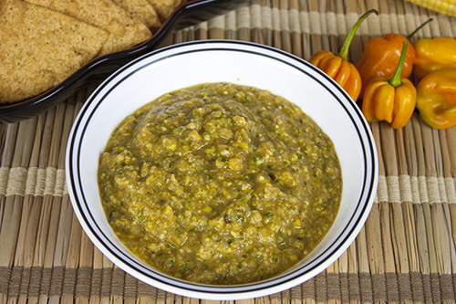 Check out the Recipe – Roasted Corn and Habanero Salsa Verde
