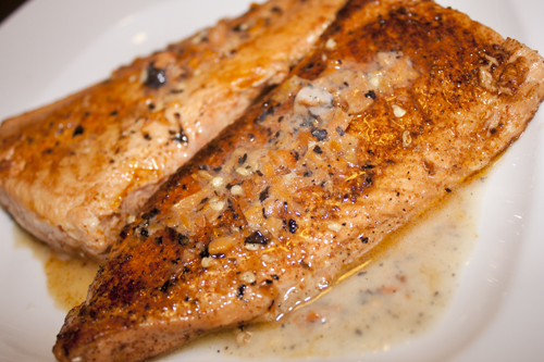 Grilled Salmon in Habanero-Butter Sauce 