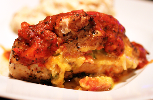 Pizza Stuffed Chicken Breasts Recipe — Dishmaps