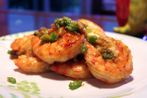 Incendiary Habanero Honey Grilled Shrimp